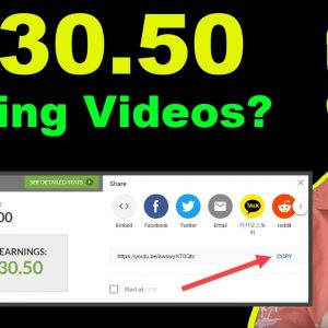 Get Paid To Share Youtube Videos? $530.50 Make Money Online