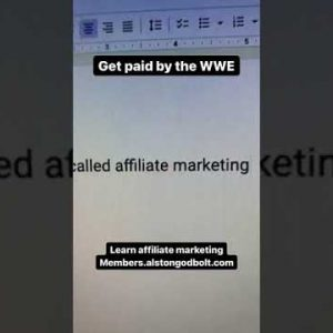 Get paid by the WWE #shorts affiliate marketing for beginners 2021