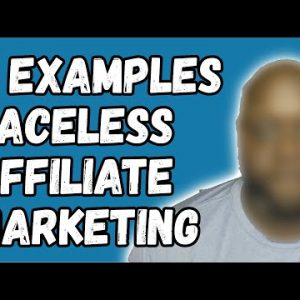 Affiliate Marketing No Face - how to do affiliate marketing without showing your face
